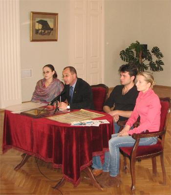 Открытие пресс-конференции