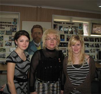 Л.Н. Горобец с докладчиками